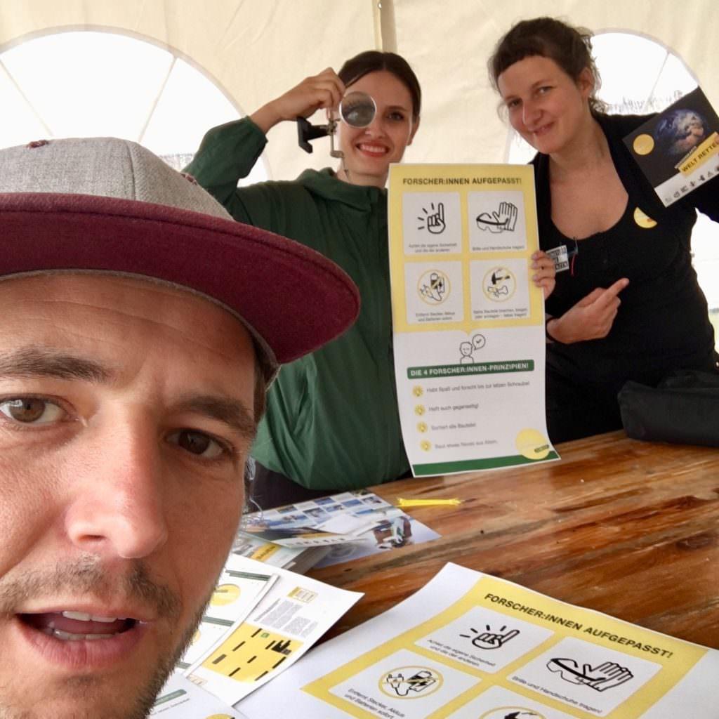 Von links: Thorsten, Julija und Paula